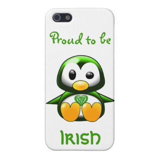 Cute Green Irish Penguin Cartoon with Celtic Knot Case For The iPhone 5