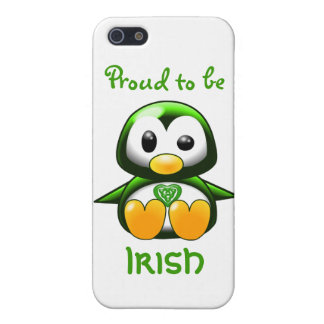 Cute Green Irish Penguin Cartoon with Celtic Knot iPhone 5 Cover