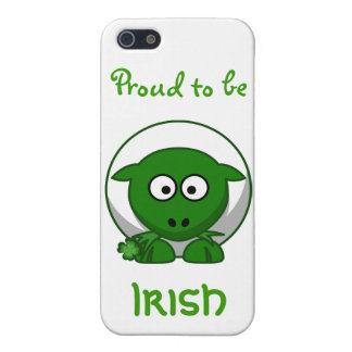 Cute Green Irish Sheep Cartoon iPhone 5 Cases