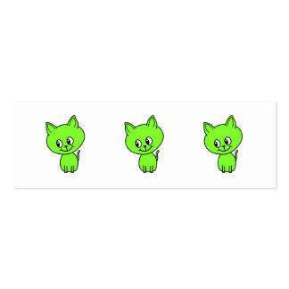 Cute Green Kitten Business Card Template