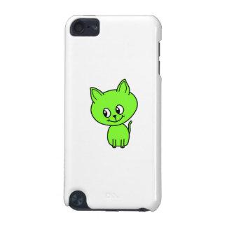 Cute Green Kitten. iPod Touch (5th Generation) Case