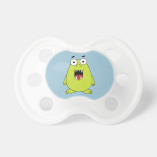 Cute green monster baby pacifier