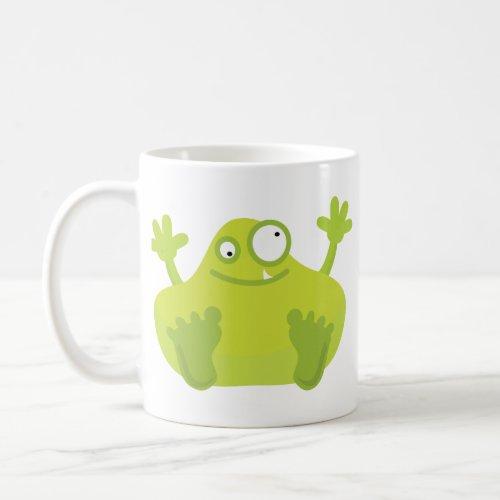 Cute Green Monster Mug