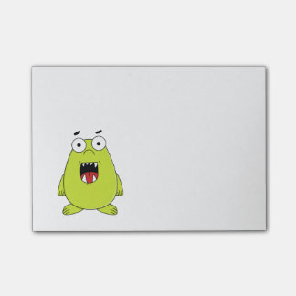 Cute green monster post-it notes