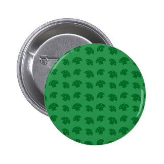 Cute green mushroom pattern 6 cm round badge
