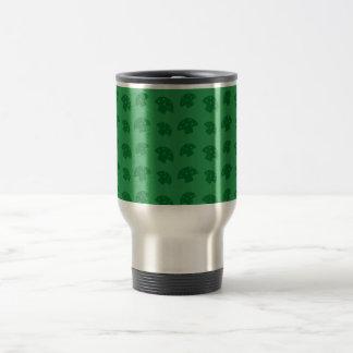 Cute green mushroom pattern mug