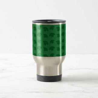 Cute green mushroom pattern travel mug