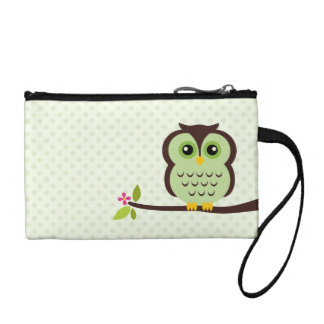 Cute Green Owl Coin Purse