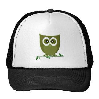 Cute Green Owl Digital Art Trucker Hat