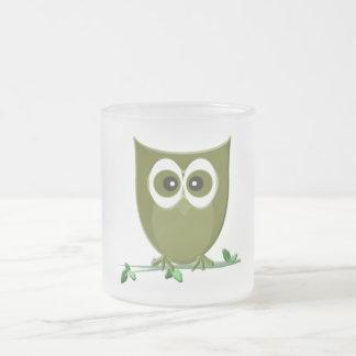 Cute Green Owl Digital Art Mug