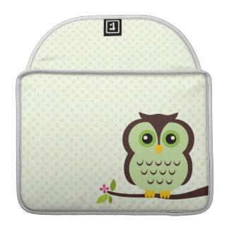 Cute Green Owl MacBook Pro Sleeve