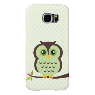 Cute Green Owl Samsung Galaxy S6 Cases