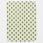 Cute Green Owls Pattern Stroller Blankets