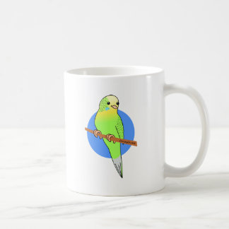 Cute Green Parakeet Coffee Mug
