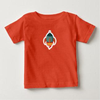 Cute Green Rocket Ship T-Shirt  Baby Toddler Kids