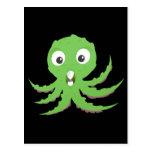 Cute Green Sea Monster Post Card