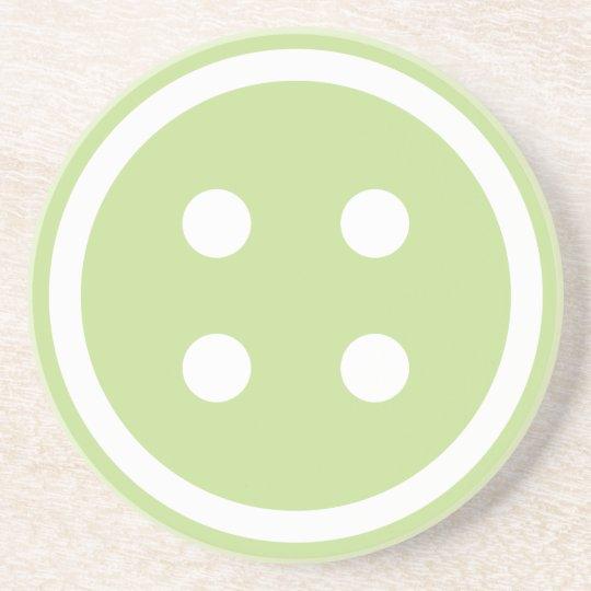 Cute Green Sewing Button Coaster
