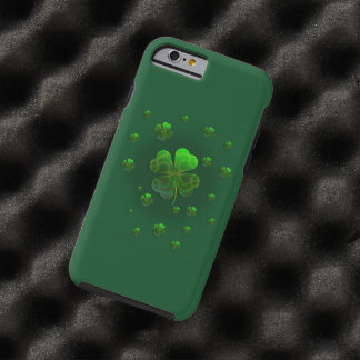 Cute Green Shamrocks | Celebrate Tough iPhone 6 Case
