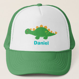 Cute Green Stegosaurus Dinosaur for Trucker Hat