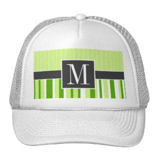 Cute Green Stripes Striped Trucker Hat