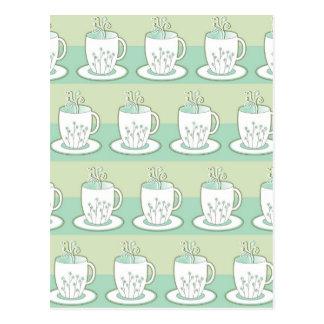 Cute Green Teacup Print Postcard