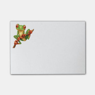 Cute Green Tree Frog on a Branch Post-it® Notes