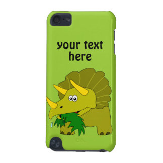 Cute Green Triceratops Cartoon Dinosaur iPod Touch (5th Generation) Case