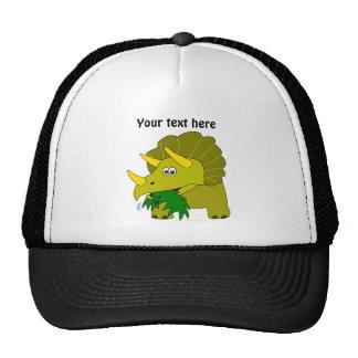 Cute Green Triceratops Cartoon Dinosaur Mesh Hat