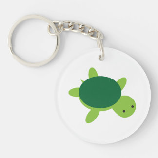 Cute Green Turtle Acrylic Keychain