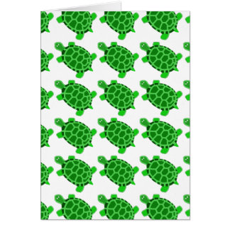 Cute Green Turtle Art Blank Note Card Gift