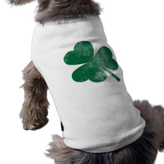 Cute Green Vintage Shamrock St. Patrick's Day Shirt