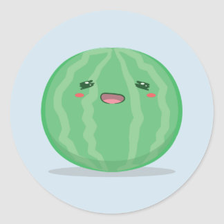 Cute Green Watermelon Sticker