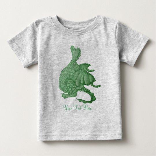 cute greendragon mythical fantasy creature art baby T-Shirt