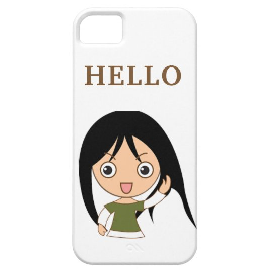 CUTE GREETING HELLO IPONE iPhone 5 COVER