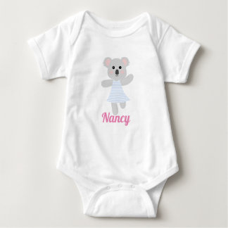 Cute Grey Baby Koala Bear baby shower Baby Bodysuit