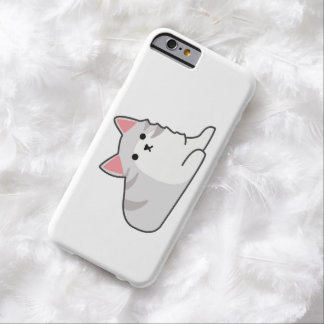 Cute Grey Cat Illustration, Feline Drawing Barely There iPhone 6 Case