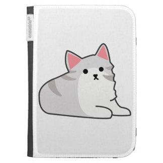 Cute Grey Cat Illustration, Feline Drawing Kindle Keyboard Covers