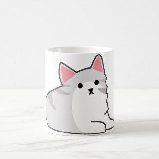 Cute Grey Cat Illustration, Feline Drawing Mugs