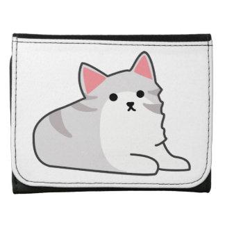 Cute Grey Cat Illustration, Feline Drawing Wallets