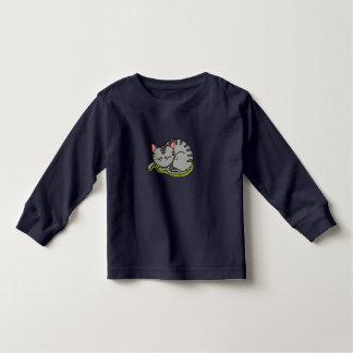 Cute grey cat sleeping toddler T-Shirt