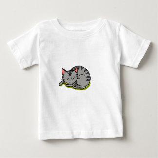 Cute grey cat sleeping tees