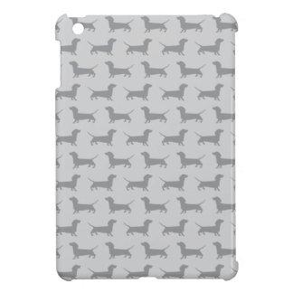 Cute Grey dachshund Dog Pattern iPad Mini Case