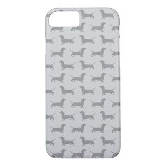 Cute Grey dachshund Dog Pattern iPhone 7 case