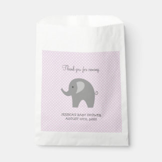 Cute grey elephant baby shower paper favor bags favour bags
