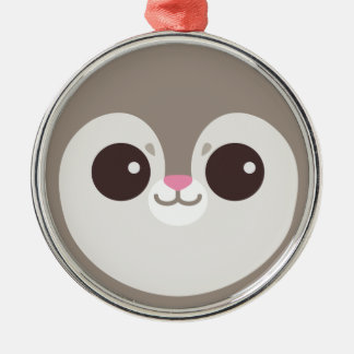Cute Grey Flying Squirrel Face Christmas Tree Ornaments