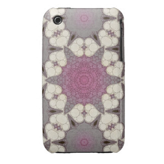 Cute Grey Pink Hearts iPhone 3 Covers