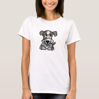 Cute grey pixel art puppy dog T-Shirt