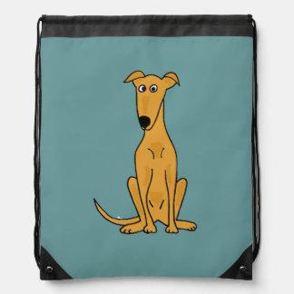 Cute Greyhound Dog Backpack