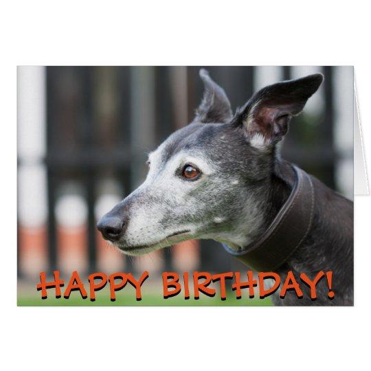 Cute greyhound greetings card