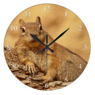 Cute Ground Squirrel Large Clock